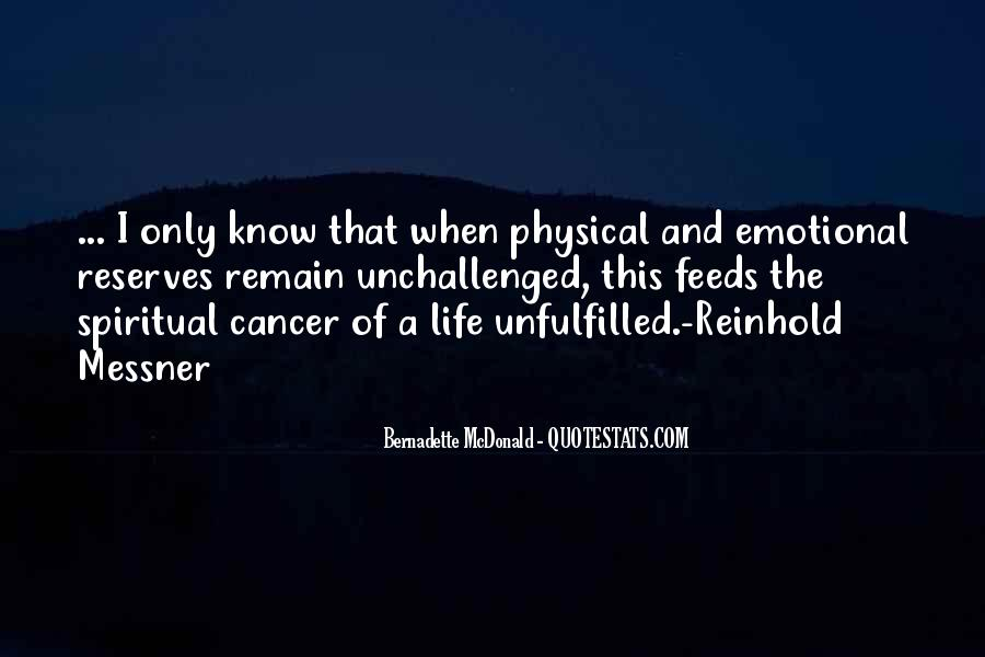 Quotes About Cancer And Life #1130717