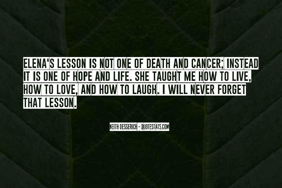 Quotes About Cancer And Life #1179131