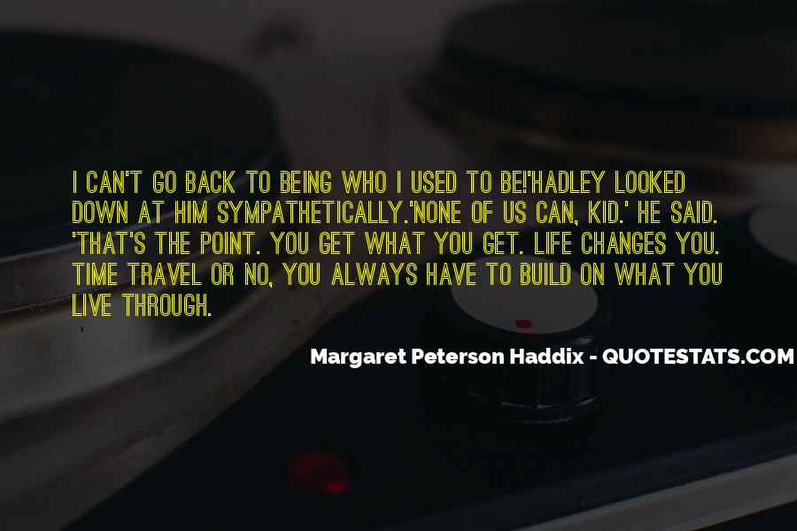 top quotes about going back in time and changing things famous