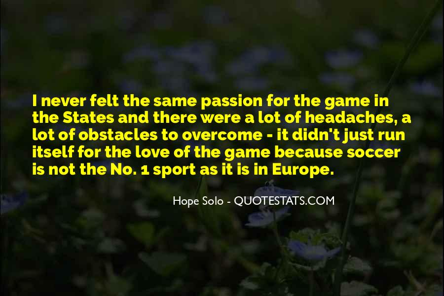 Quotes About Soccer And Love #287775