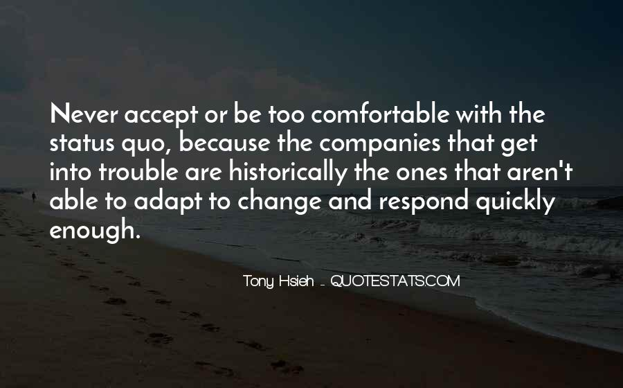 Quotes About Change Status #208454