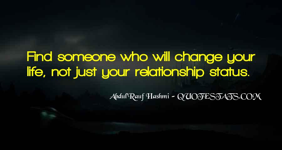 Quotes About Change Status #463587