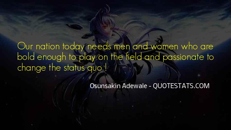 Quotes About Change Status #808841