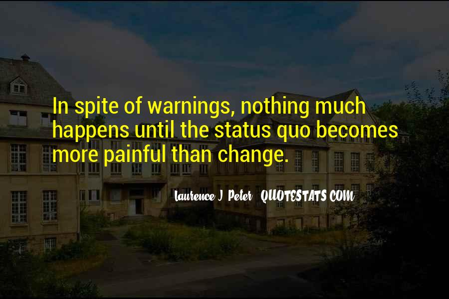 Quotes About Change Status #985397