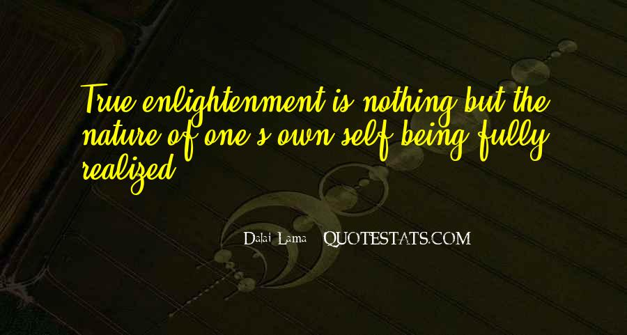 Quotes About Self Enlightenment #146323