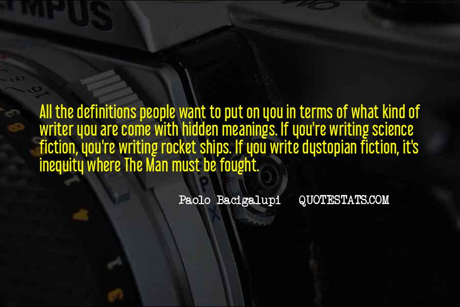 Quotes About Dystopian Fiction #47691