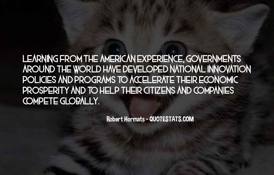 Quotes About Economic Prosperity #1007658