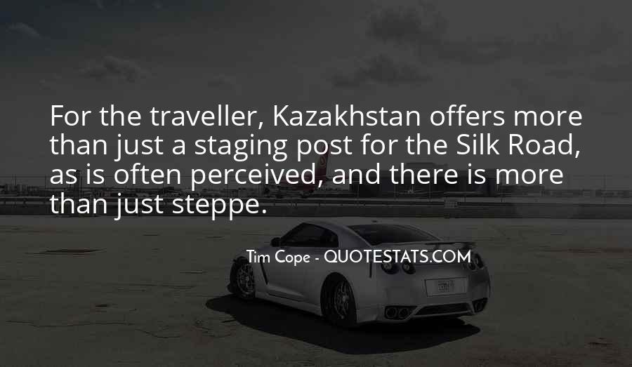 Quotes About Kazakhstan #655185