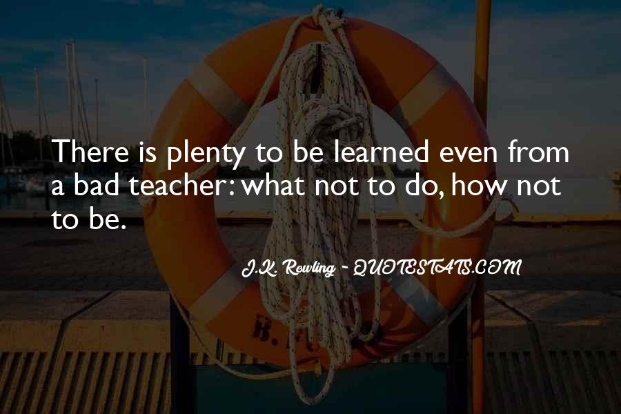 Quotes About A Bad Teacher #959757