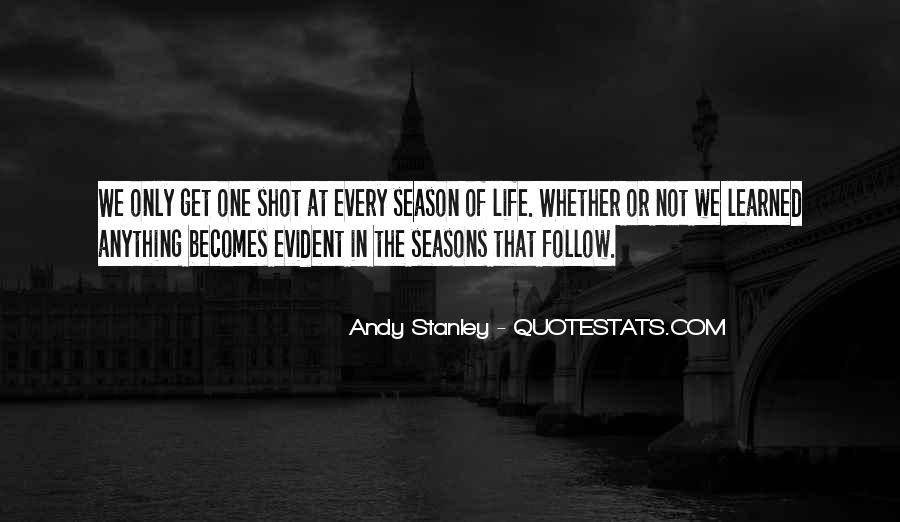 Quotes About The Seasons Of Life #1769215