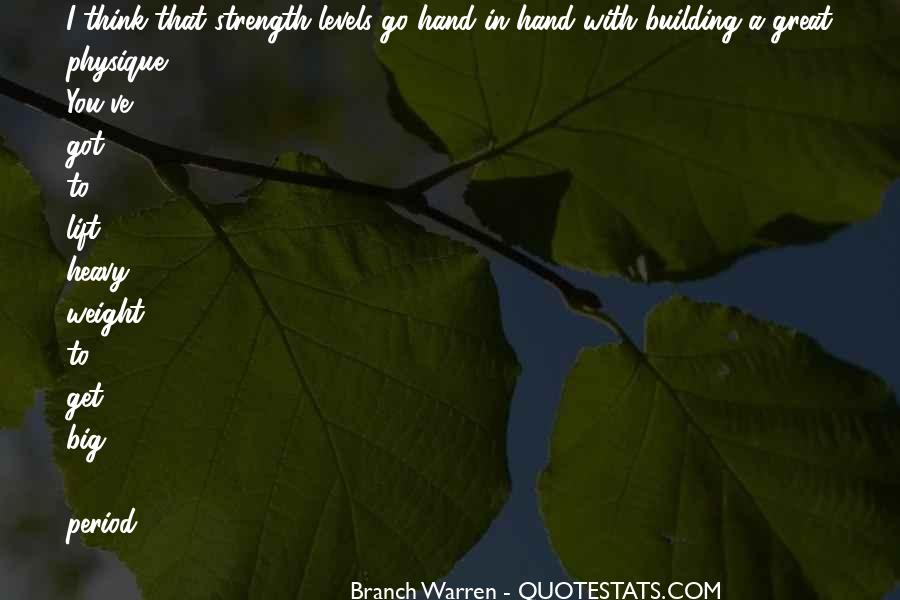 Quotes About Building Strength #1167943