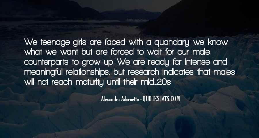 Quotes About Teenage Relationships #897369