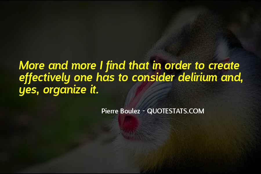 Quotes About Delirium #1191772