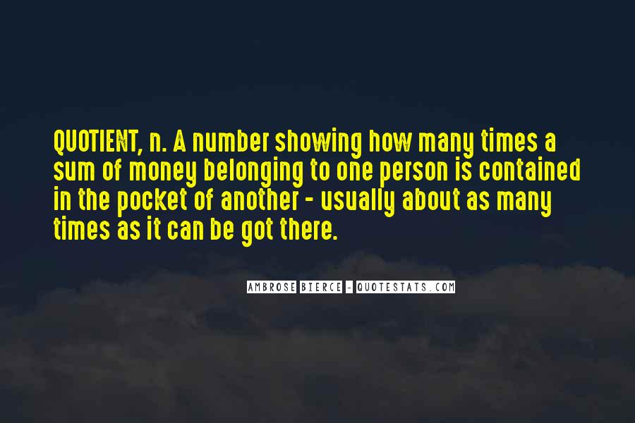 Quotes About Pocket Money #1167639