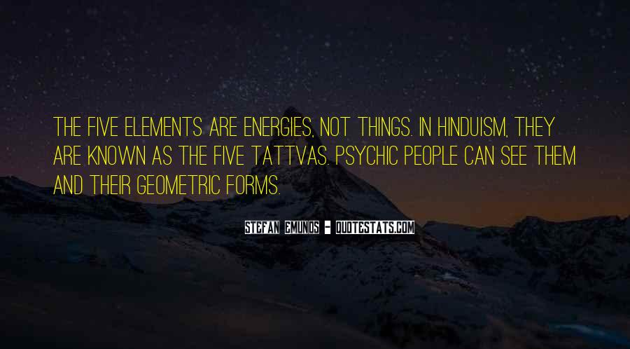 Quotes About Five Elements #1489083