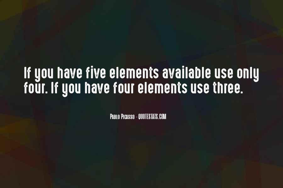 Quotes About Five Elements #785884