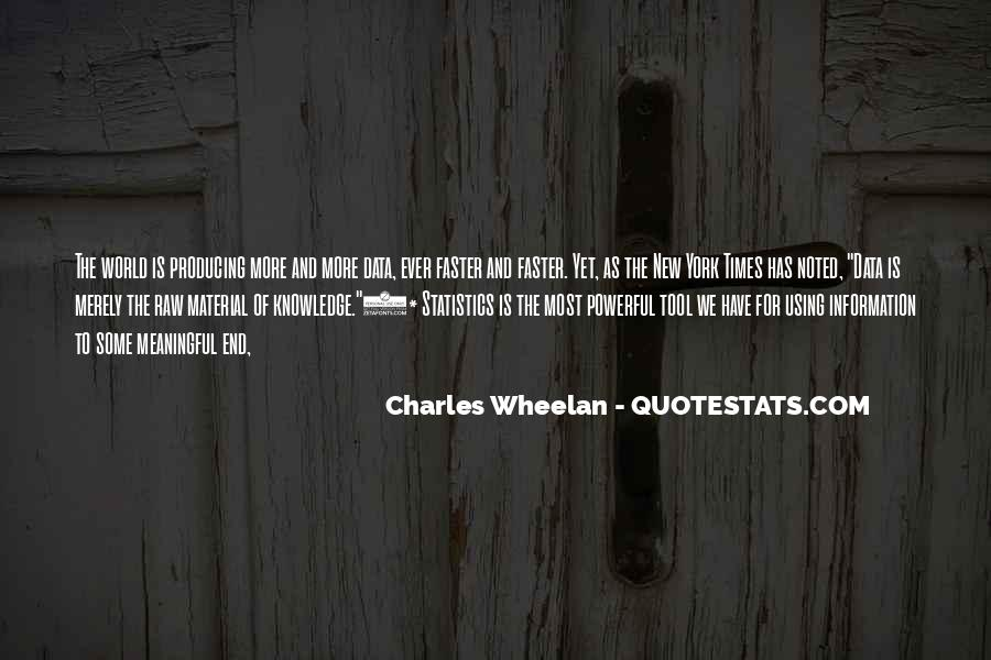 Quotes About Data And Statistics #1365666