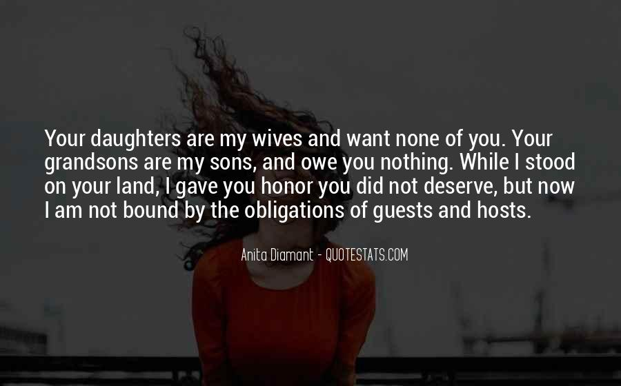 Quotes About Wives And Daughters #922893