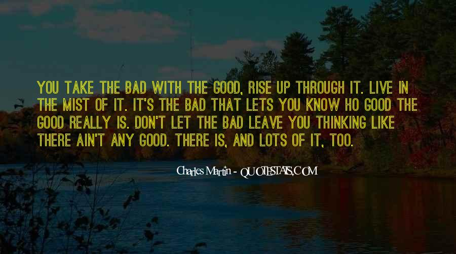 Quotes About You Have To Take The Good With The Bad #96113