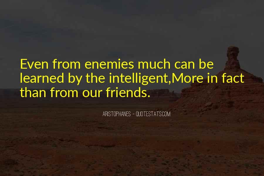 Quotes About Friends Enemies #145674