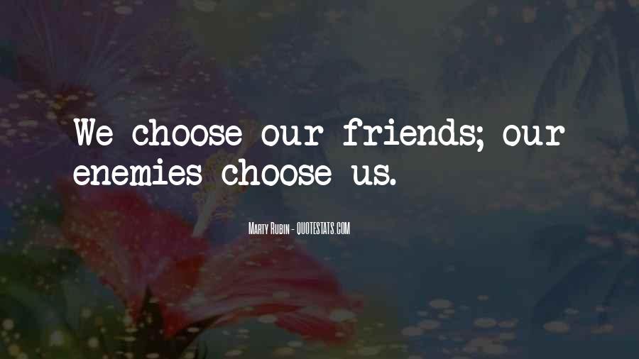 Quotes About Friends Enemies #207147