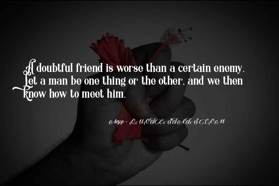 Quotes About Friends Enemies #226177