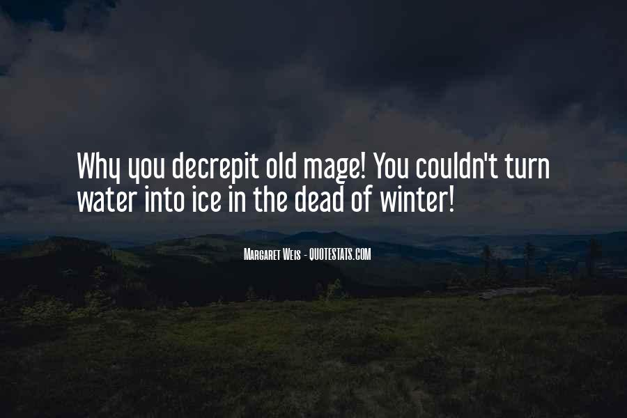 Quotes About Ice Water #1035766