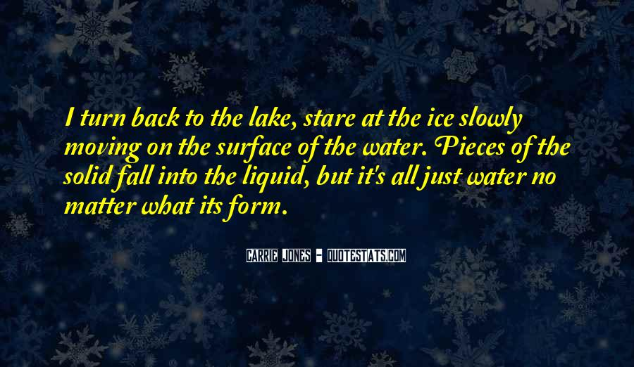 Quotes About Ice Water #296737