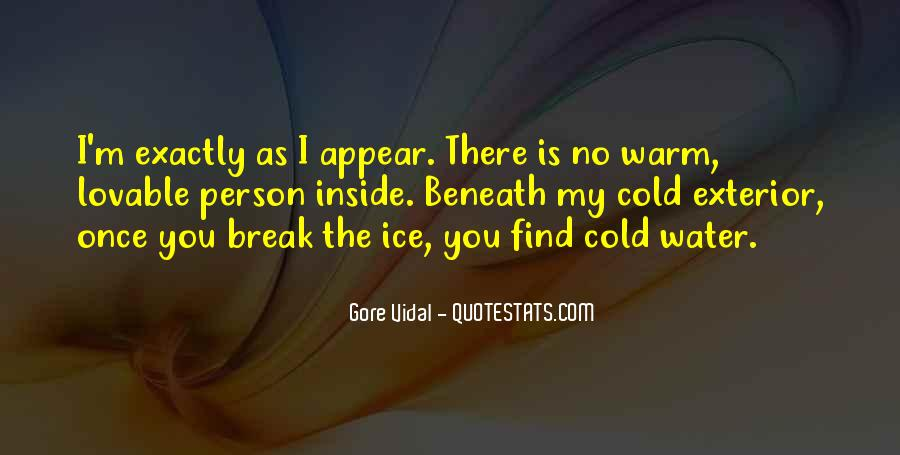 Quotes About Ice Water #499445