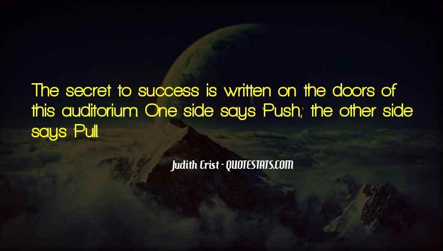 Quotes About Secret Doors #1143938