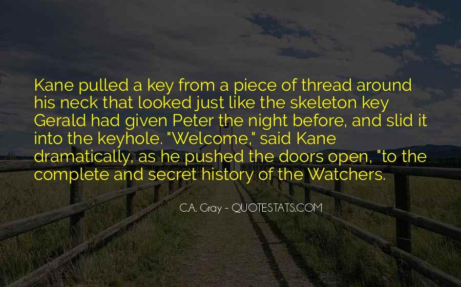 Quotes About Secret Doors #1194282