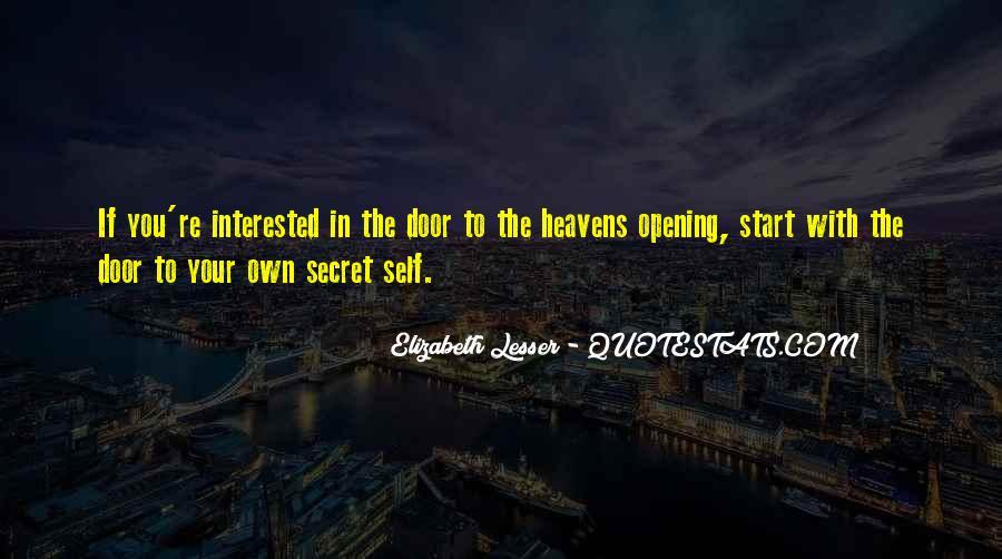 Quotes About Secret Doors #1373906