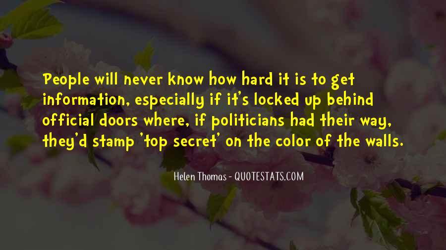 Quotes About Secret Doors #1547364