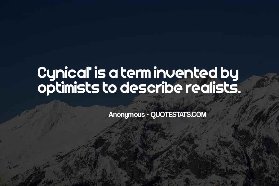 Quotes About Realists #500641