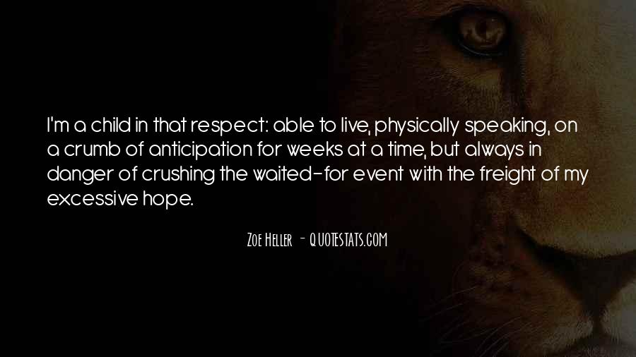 Quotes About The Danger Of Hope #178732