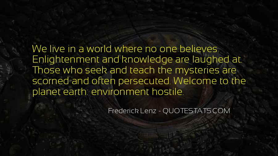 Quotes About Hostile Environment #1350407