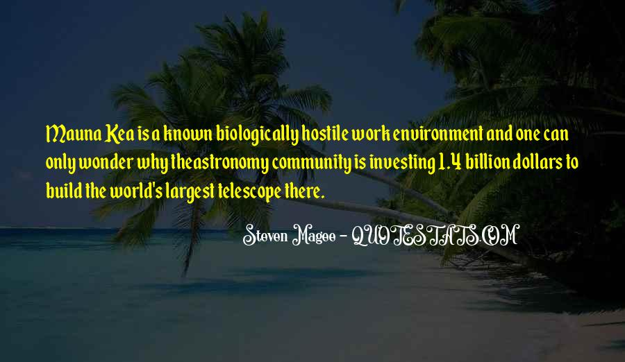 Quotes About Hostile Environment #44189