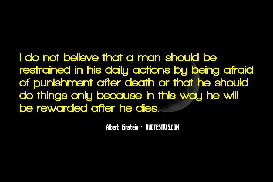 Quotes About Death By Albert Einstein #1059758