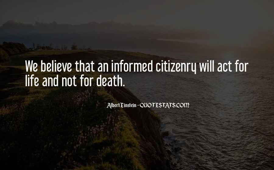 Quotes About Death By Albert Einstein #1215031