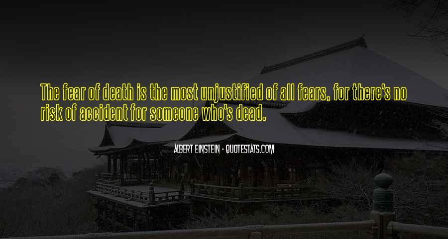 Quotes About Death By Albert Einstein #1325950