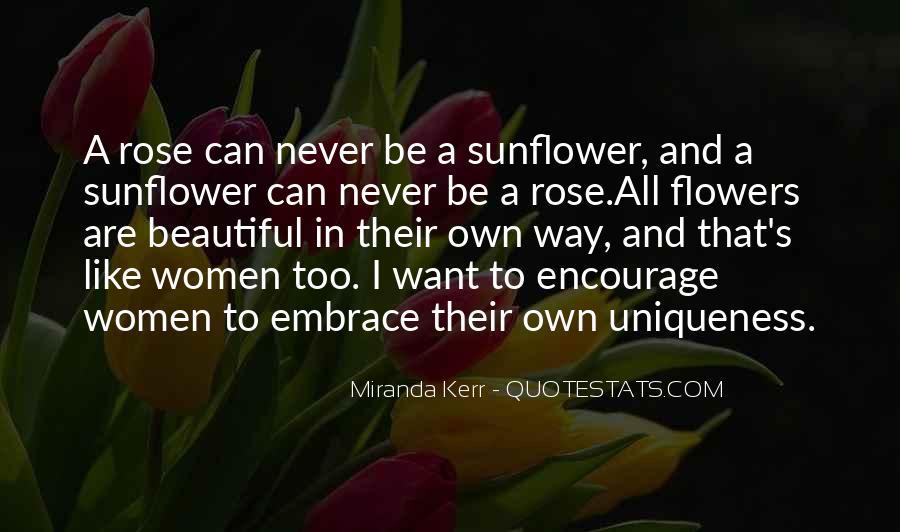 Quotes About Women's Uniqueness #1235045