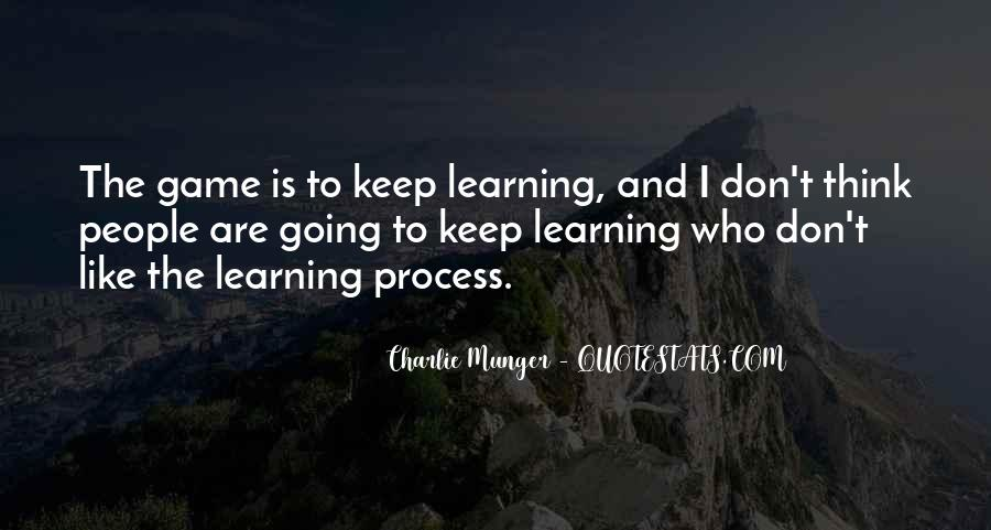Quotes About Learning Through Games #1129486