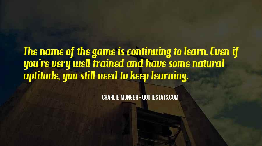 Quotes About Learning Through Games #1600515