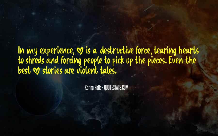 Quotes About Violent Love #166154