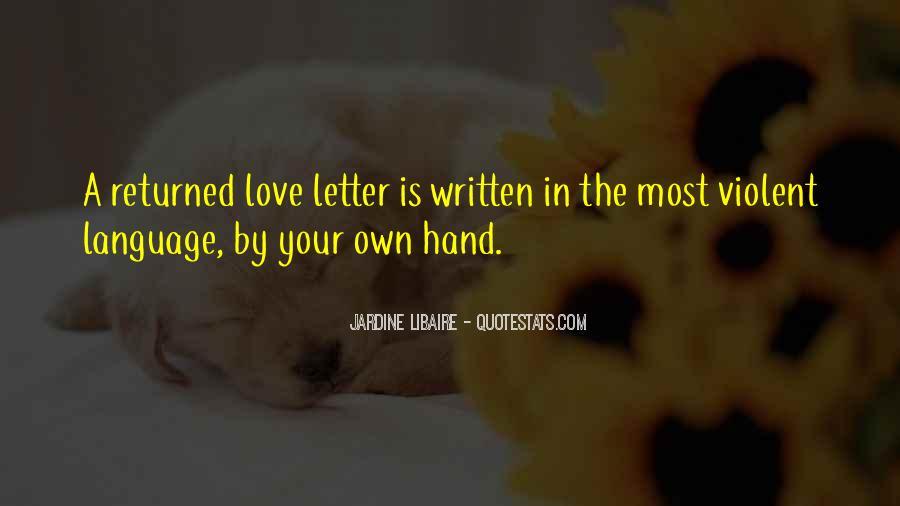 Quotes About Violent Love #698498