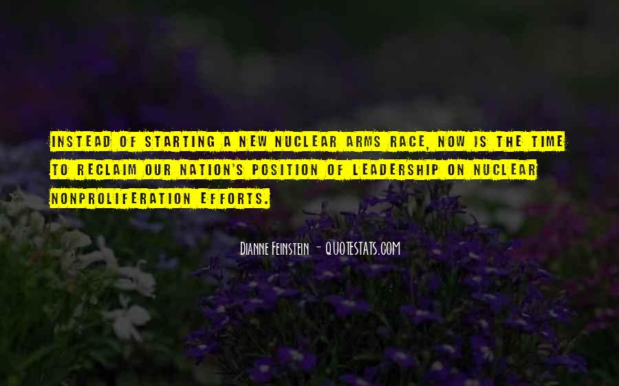 Quotes About Arms Race #1035577