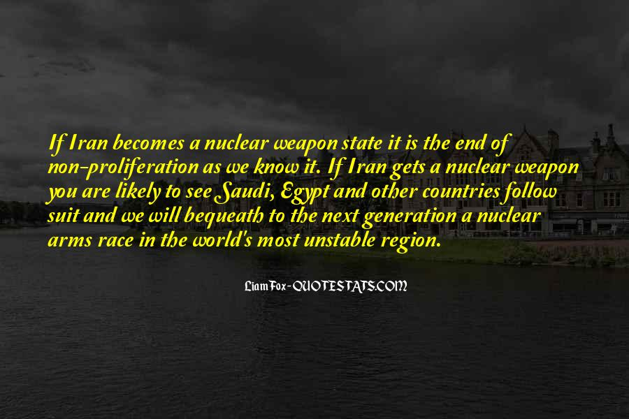 Quotes About Arms Race #58175