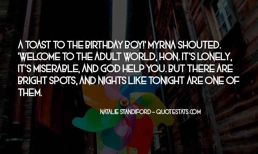 Quotes About Lonely Nights #1062279