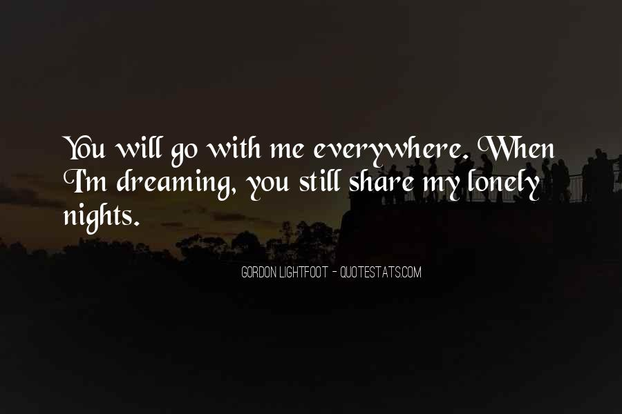 Quotes About Lonely Nights #1404979