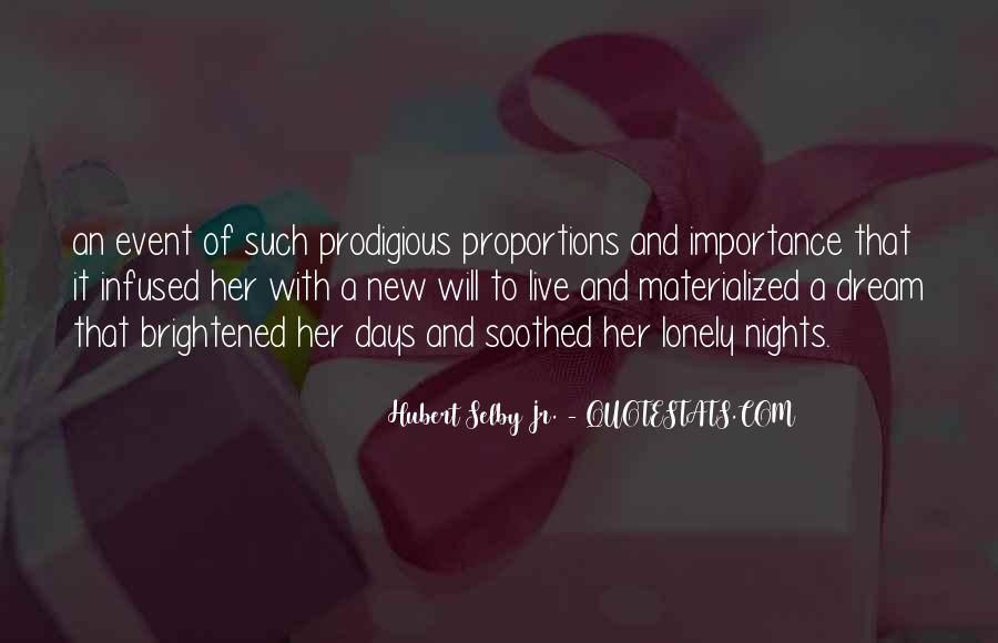Quotes About Lonely Nights #1426403